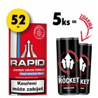 5x Rapid 18g + 2x Rocket Energy Drink 250ml ZDARMA
