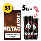 5x Velta Classic 19g + 2x Rocket Energy Drink 250ml ZDARMA
