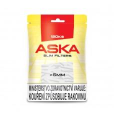 Cigaretové filtry Aska - 120 - filtrů průměr 6mm